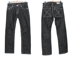 HUGEBLOCKS 【X-Denim】 WASH BLACK